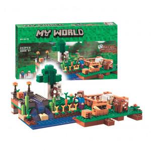 Конструктор Майнкрафт Lari My world Ферма 10175