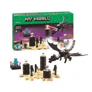 Конструктор Майнкрафт Lari My world Дракон края 10178