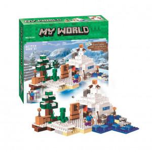 Конструктор Майнкрафт Lari My world Снежное убежище 10391