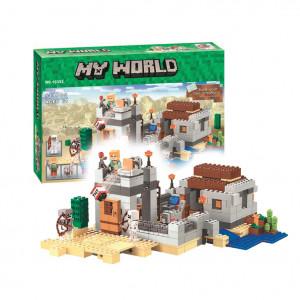 Конструктор Майнкрафт Lari My world Пустынная станция 10392