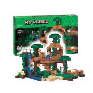 Конструктор Майнкрафт Lari My world Домик на дереве в джунглях 10471