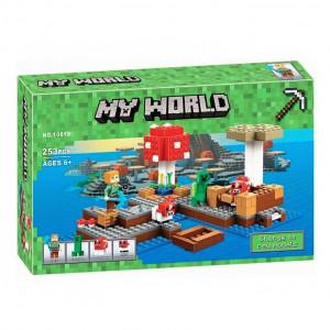Конструктор Майнкрафт Lari My world Грибной остров 10619