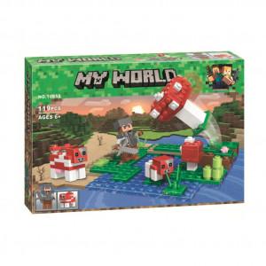 Конструктор Майнкрафт Lari My world Мини грибной остров 10955