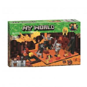 Конструктор Lari My world 10963 Майнкрафт Нападение в нижнем мире