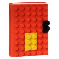 Блокнот «Конструктор» в красной силиконовой обложке