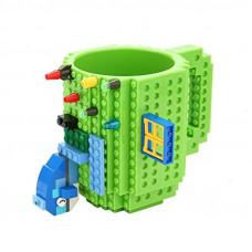 Кружка Build-on Brick зеленая 350 мл