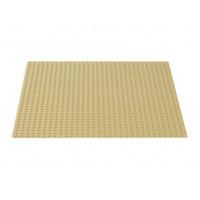 Строительная пластина для конструкторов бежевая 25,5 х 25,5 см