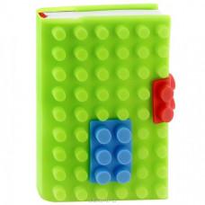 Блокнот «Конструктор» в зеленой силиконовой обложке