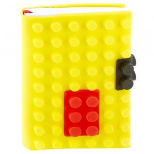 Блокнот «Конструктор» в желтой силиконовой обложке