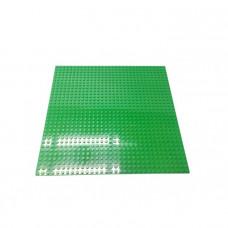 Строительная пластина для конструкторов зеленая 25,5 х 25,5 см