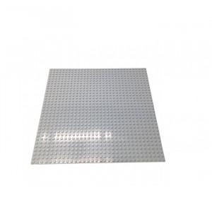 Строительная пластина для конструкторов серая 25,5 х 25,5 см