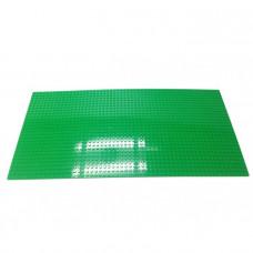 Строительная пластина для конструкторов зеленая 38,5 х 25,5 см