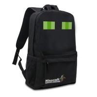 Рюкзак Minecraft «Эндермен с зелеными глазами» черный