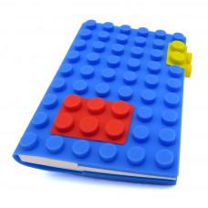 Блокнот «Конструктор» в синей силиконовой обложке