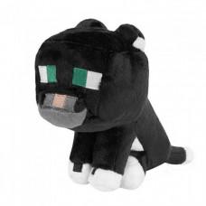 Мягкая игрушка Майнкрафт Дымчатый кот (Tuxedo Cat), 23см