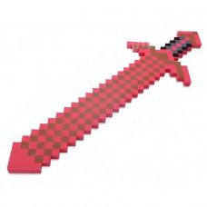 Красный пиксельный меч Майнкрафт