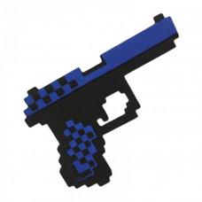 """Пиксельный пистолет синий """"Глок 17"""" Майнкрафт 22 см"""