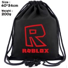 """Мешок для обуви Роблокс """"Roblox"""" (красное лого)"""