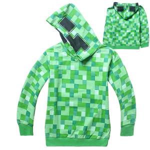 Толстовка зеленая Крипер из Майнкрафт