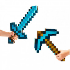 Алмазная кирка-меч трансформер Майнкрафт