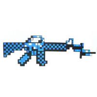 Синий пиксельный автомат Майнкрафт