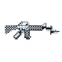 Белый пиксельный автомат Майнкрафт