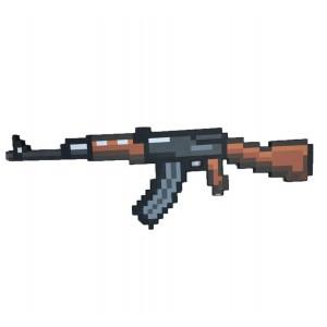 Пиксельный автомат AK47 Майнкрафт, 85 см