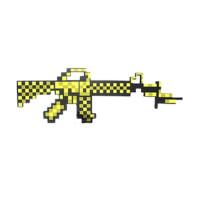 Золотой пиксельный автомат Майнкрафт