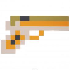Пиксельный (коричниевый) пистолет Майнкрафт