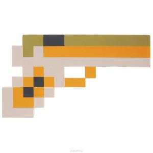 Пиксельный (коричневый) пистолет Майнкрафт