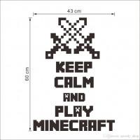 Постер Keep calm and play Майнкрафт