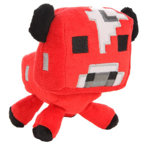Мягкая игрушка Майнкрафт Грибная корова (Mushroom cow), 15 см
