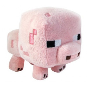 Мягкая игрушка Поросенок Майнкрафт, 13 см