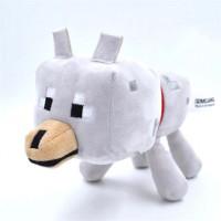 Мягкая игрушка Майнкрафт Волк (Wolf), 17 см