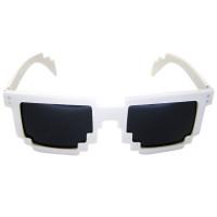 Белые пиксельные очки