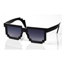 Черные пиксельные очки