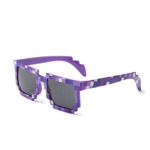Фиолетовые пиксельные очки