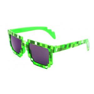 Зеленые пиксельные очки