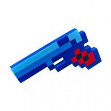 Синий пиксельный пистолет Майнкрафт