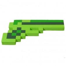 Зеленый пиксельный пистолет Майнкрафт