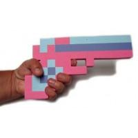Пиксельный розовый пистолет Майнкрафт