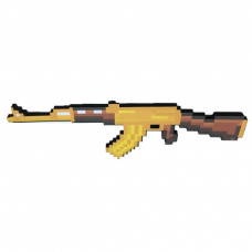 Пиксельный автомат AK47 Майнкрафт (золотой)