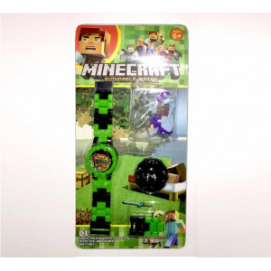 Детские наручные часы Майнкрафт с фигуркой Стива 2