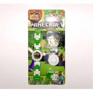 Детские наручные часы Майнкрафт с фигуркой скелета 2