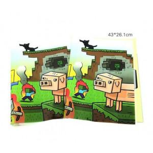 Обложка для книг и тетрадей Майнкрафт Рассвет