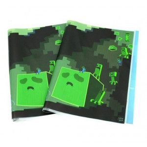 Обложка для книг и тетрадей Майнкрафт Битва в пещере