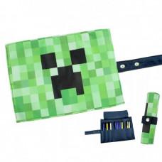 Пенал сворачивающийся Крипер Майнкрафт (зеленый)