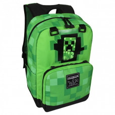 Рюкзак Jinx Майнкрафт Крипер из стены Creepy Creeper зеленый